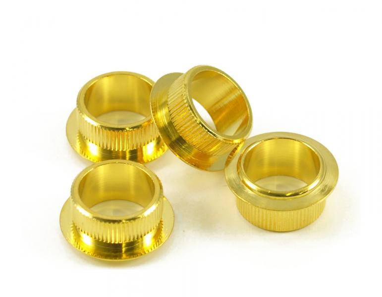 FENDER VINTAGE BASS TUNER BUSHINGS X 4 GOLD