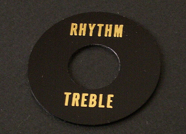 MONTREUX TIME MACHINE 56 RHYTHM/TREBLE RING BLACK PLAIN