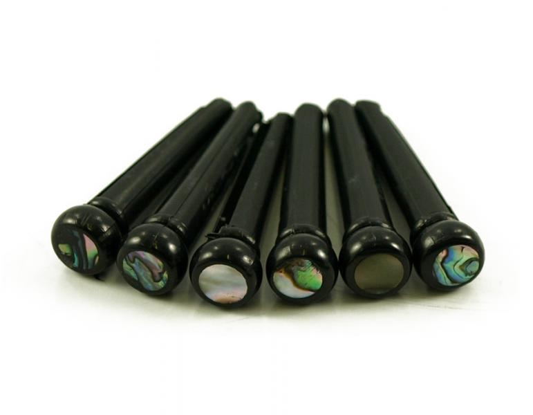 BRIDGE PINS BLACK 5MM ABALONE