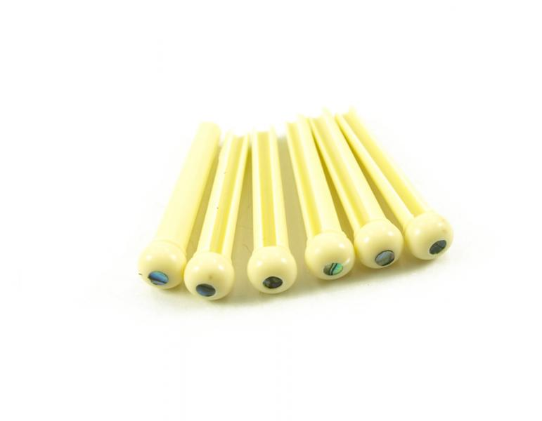 BRIDGE PINS CREAM 3MM ABALONE