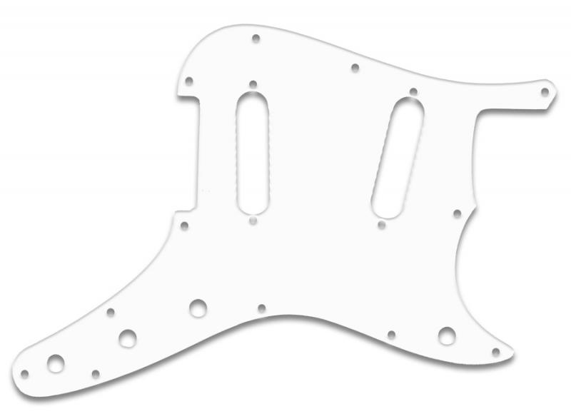 fender duosonic pickguard white thin