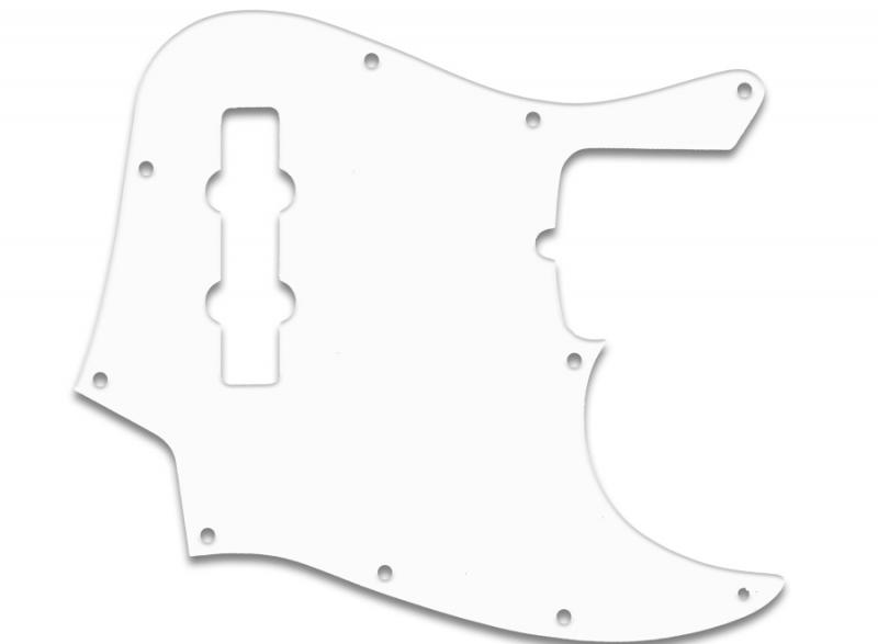 fender jazz bass pickguard white thin
