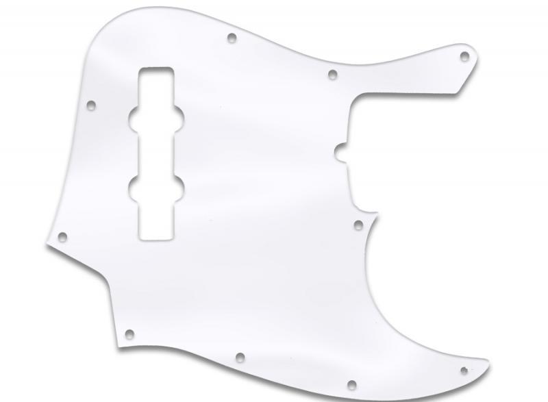 fender jazz bass pickguard clear acrylic