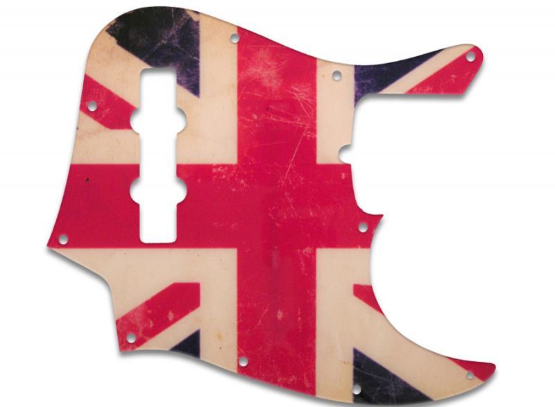 Fender Jazz Bass Pickguard Union Jack Flag Relic