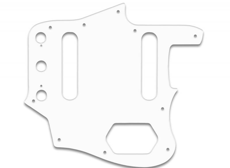 fender jaguar pickguard white black white