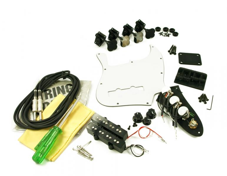JAZZ BASS BLACK HARDWARE UPGRADE KIT