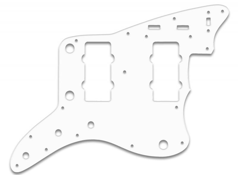 fender jazzmaster pickguard white thin