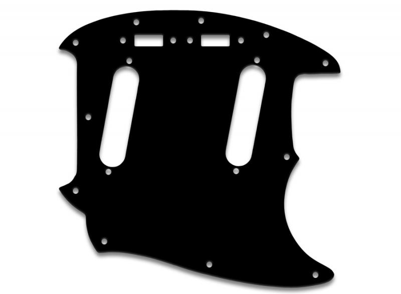 FENDER MUSTANG PICKGUARD BLACK WHITE BLACK 3 PLY