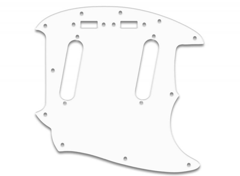 fender mustang pickguard white