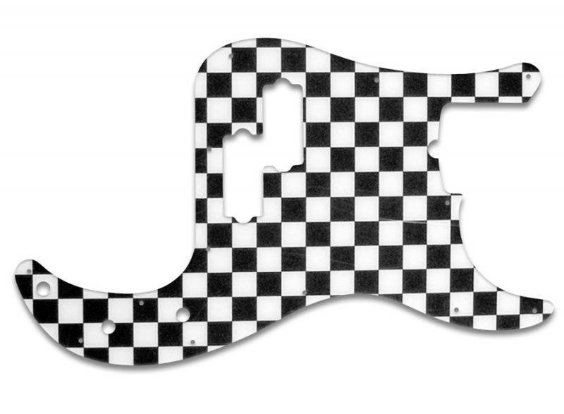 jazz bass pickguard template - fender precision bass pickguard checkerboard guitar