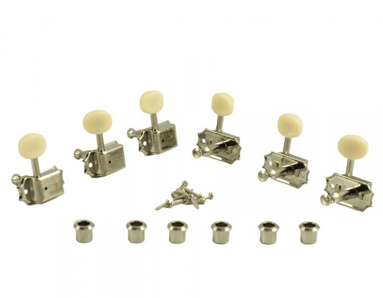 KLUSON SINGLE LINE PLASTIC BUTTONS NICKEL