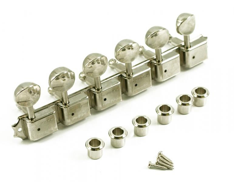 KLUSON 6 ON PLATE DOUBLE ROW NICKEL