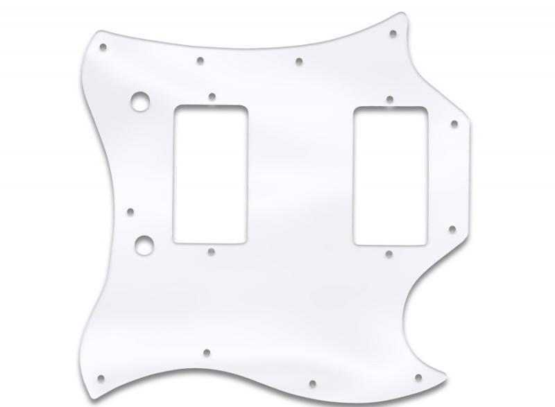 gibson sg full face pickguard clear acrylic