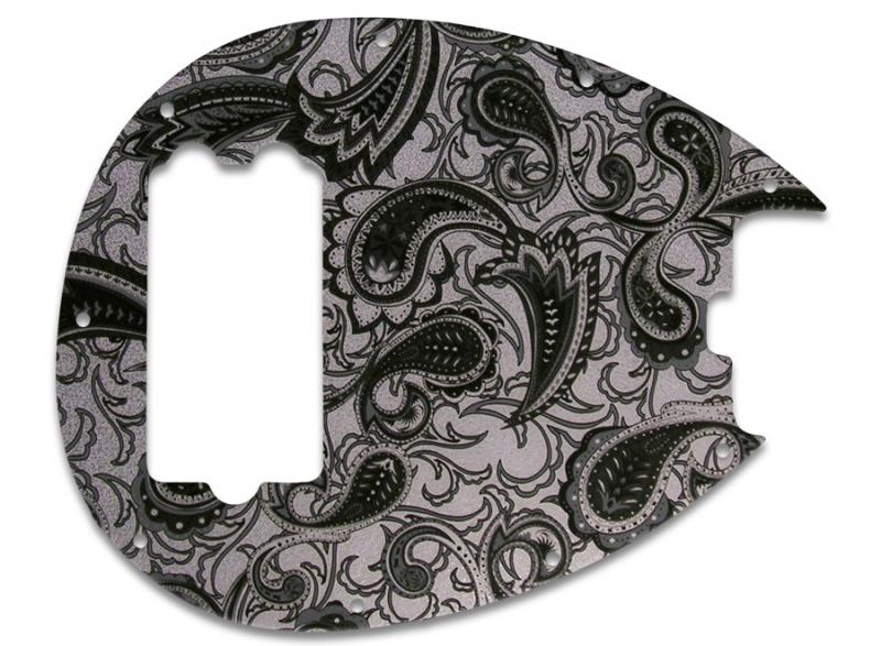 MUSICMAN STERLING PICKGUARD BLACK SILVER PAISLEY