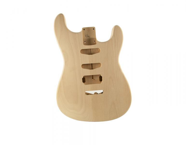 STRAT BODY ALDER UNFINISHED-HSS-REAR CONTROLS
