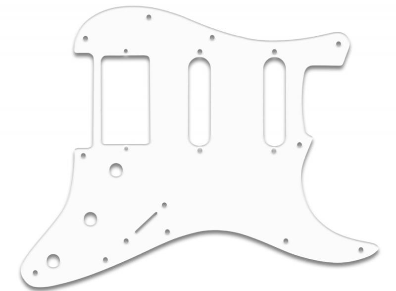 fender stratocaster ssh pickguard white black white
