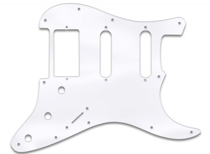 fender stratocaster ssh pickguard clear acrylic