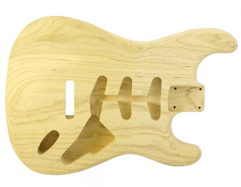 STRAT BODY SWAMP ASH UNFINISHED-EXTRA LIGHTWEIGHT 1 PIECE
