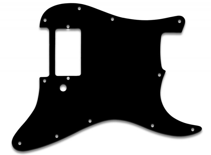 FENDER STRATOCASTER HB PICKGUARD BLACK THIN