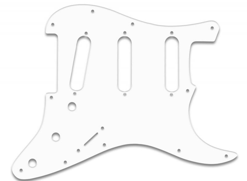 fender stratocaster pickguard white black white