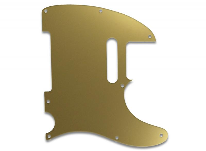 FENDER TELECASTER PICKGUARD GOLD MIRROR