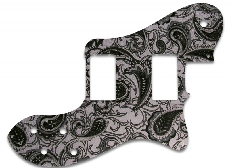 FENDER TELECASTER DELUXE PICKGUARD BLACK SILVER PAISLEY