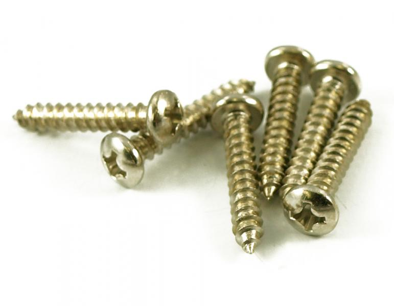 TUNING MACHINE SCREWS X 12 NICKEL