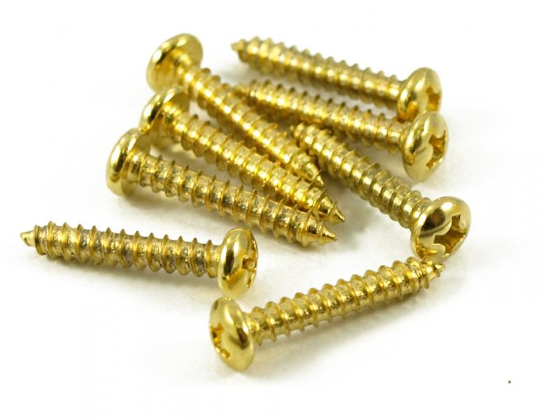 TUNING MACHINE SCREWS X 12 GOLD 24K