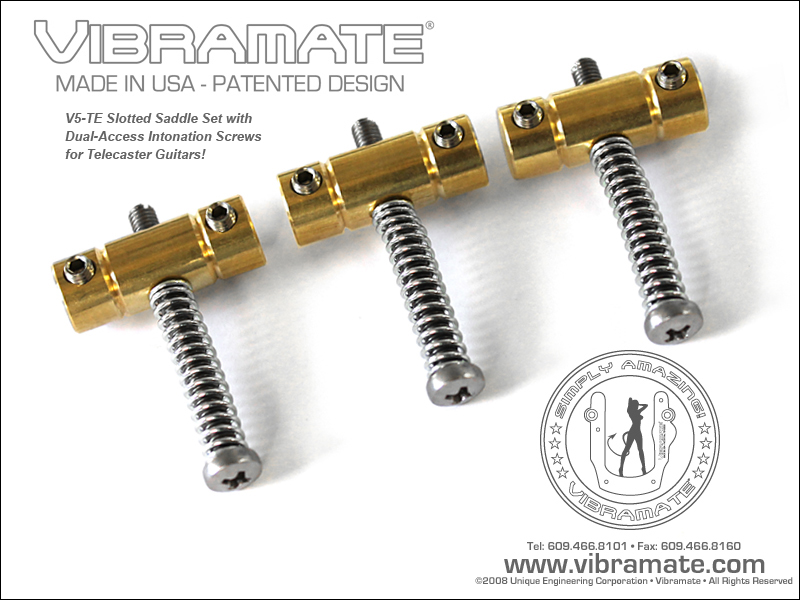 VIBRAMATE DUAL ACCESS BRASS SADDLES
