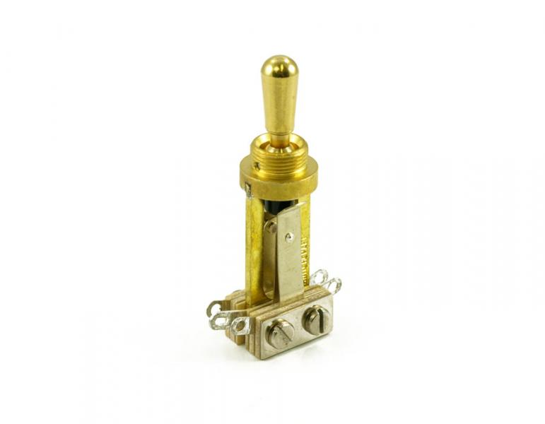 SWITCHCRAFT LES PAUL TOGGLE SWITCH GOLD