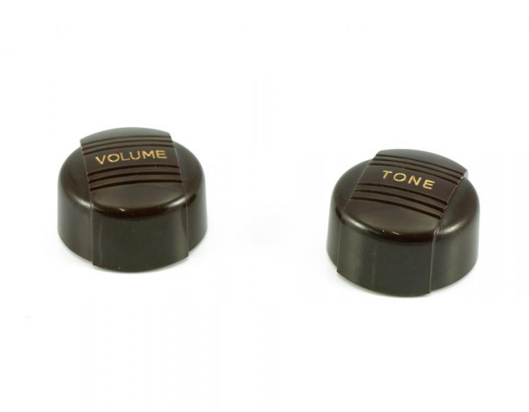 VINTAGE VOLUME / TONE KNOB SET BROWN